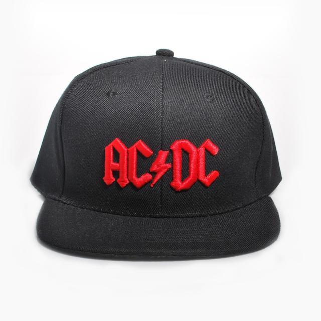 AC/DC Red 3D Logo Snapback Baseball Hat