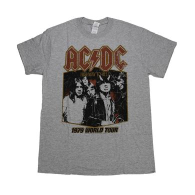 AC/DC Grey World Tour '79 Dates T-Shirt