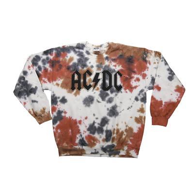 AC/DC Crew Neck Tie-Dyed Logo Sweatshirt