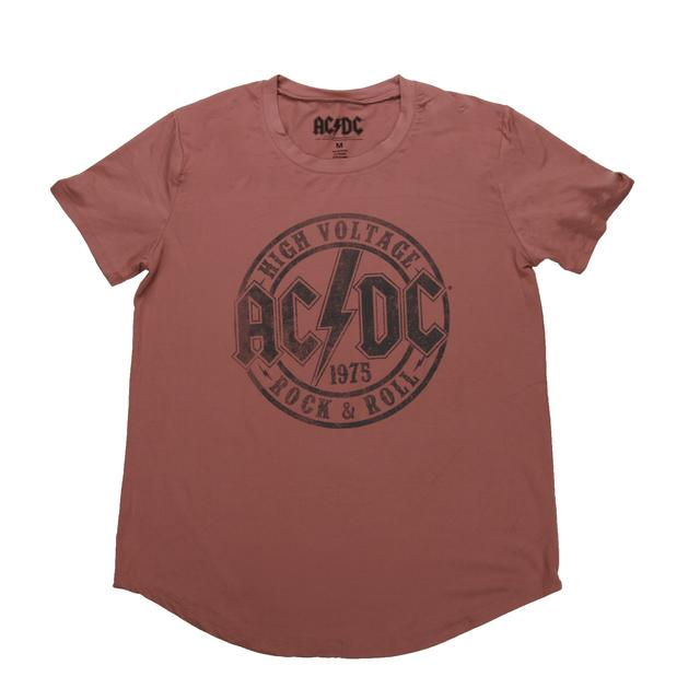 AC/DC Women's Tunic Style High Voltage Stamp T-Shirt