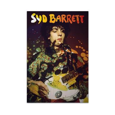 Syd Barrett Paisley Plays Aluminum Print