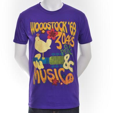 Woodstock Purple Psychedlic Cymbal T-Shirt