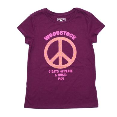 Woodstock Girls Floral Peace T-Shirt