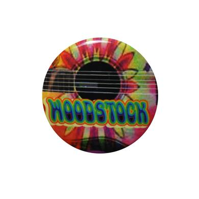 Woodstock Psychedelic Guitar Button