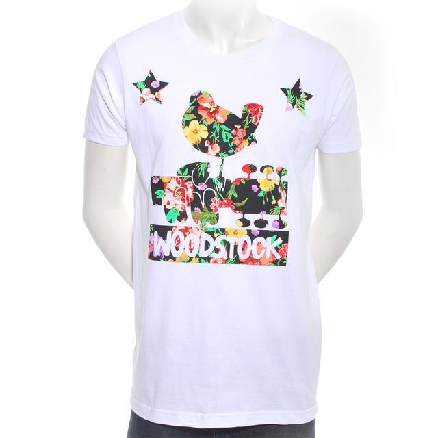 Woodstock Men's Floral Logo Dove T-Shirt