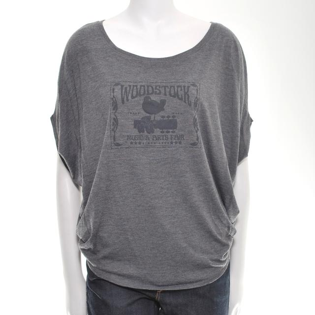 Women's Flowy Woodstock Stamp T-Shirt