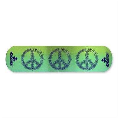 Woodstock Floral Peace Aluminum Cuff Bracelet