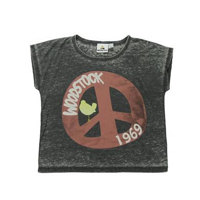 Woodstock Women's Peace Sign Crop Top