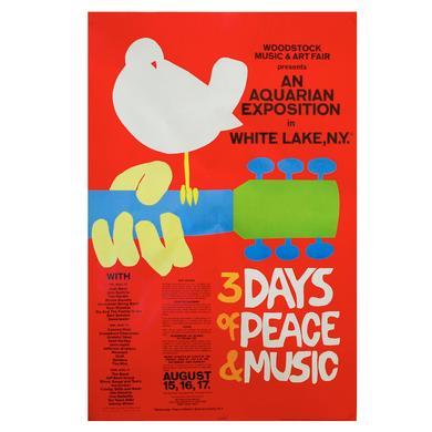Woodstock 24 x 36 Festival Poster