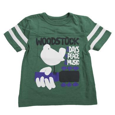 Woodstock Kids Football-Style Striped Sleeve T-Shirt