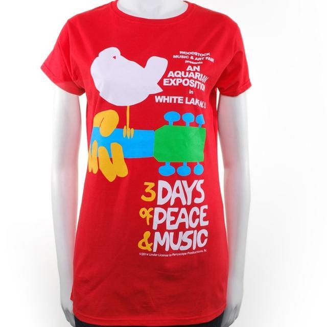 Woodstock Red Ladies Original Event T-Shirt
