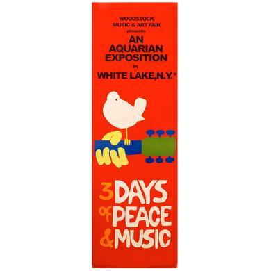 Woodstock 12 x 36 Festival Poster