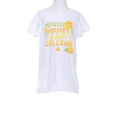Woodstock Girls Hippies Always Welcome T-Shirt