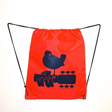Woodstock Red Drawstring Dove Bag