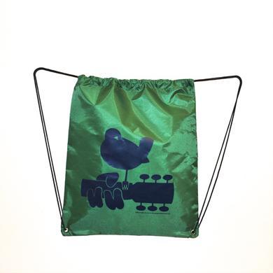 Woodstock Green Drawstring Dove Bag