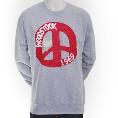 Woodstock Simply Peace Crew Neck Sweatshirt