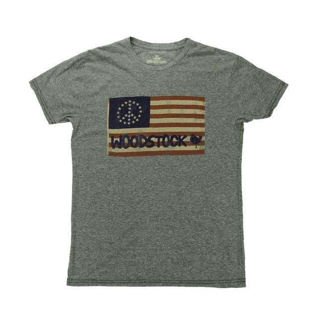 Woodstock Heather Grey Flag T-Shirt
