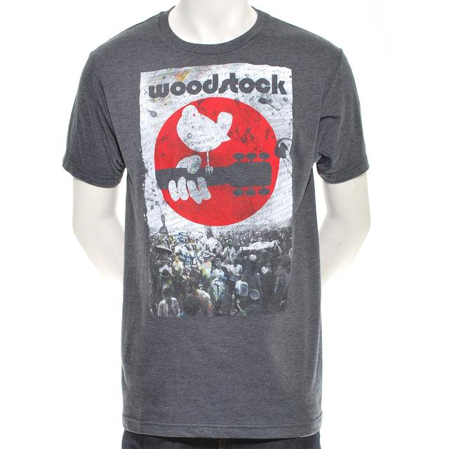 Woodstock Red Crowd View Set Times T-Shirt
