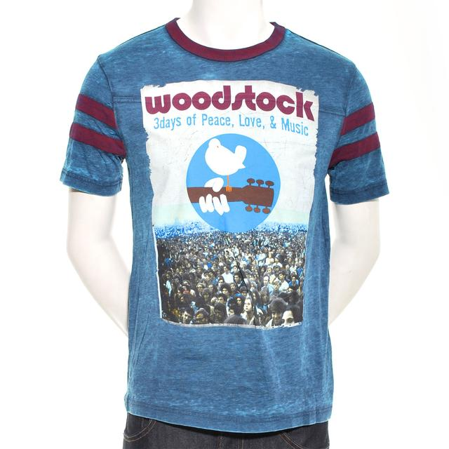 Woodstock Vintage Poster Classic Football T-Shirt