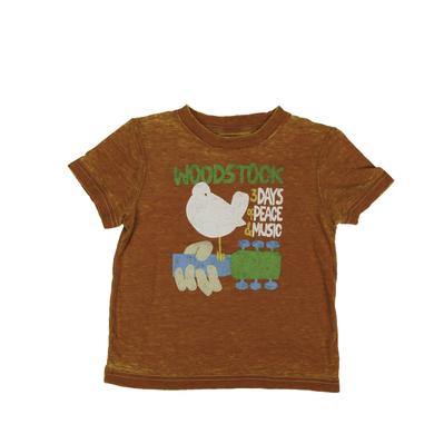 Woodstock Toddlers Burnt Orange Dove & Guitar T-Shirt