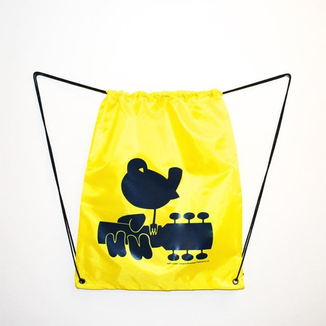 Woodstock Yellow Drawstring Dove Bag