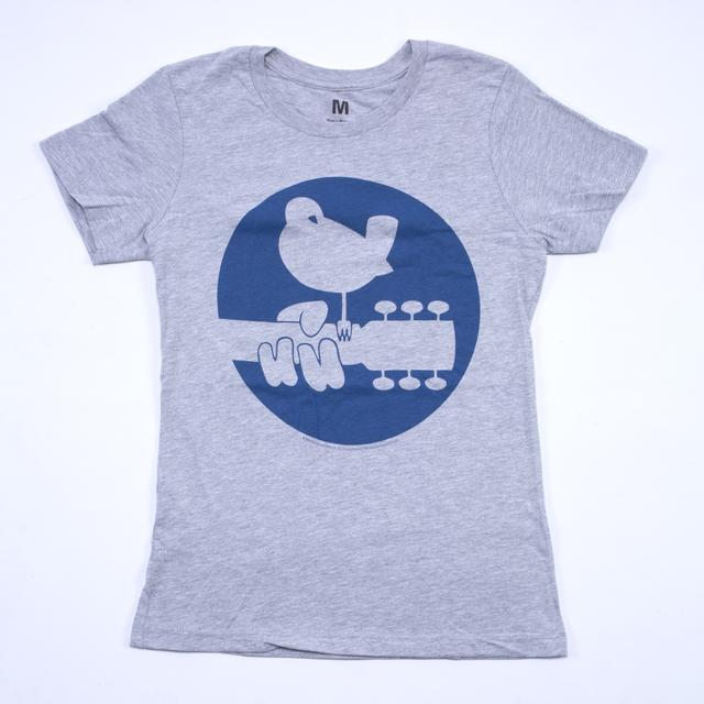 Woodstock Girls Blue Circle Dove Logo T-Shirt