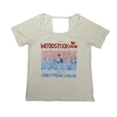 Woodstock Women's Deep V Sea Of People T-Shirt