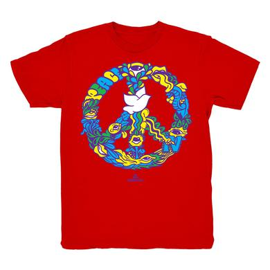 Woodstock Red Floral Clock Print T-Shirt