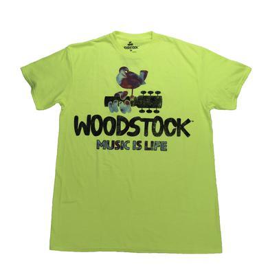 Woodstock Neon Music Is Life T-Shirt