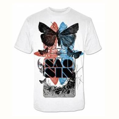Saosin Moth White Slim Tee