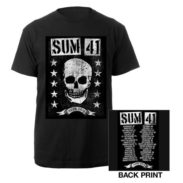 Sum 41 Grinning Skull Tour 2016 Tee
