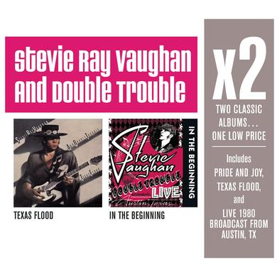 Stevie Ray Vaughan X2 (Texas Flood/In The Beginning) CD