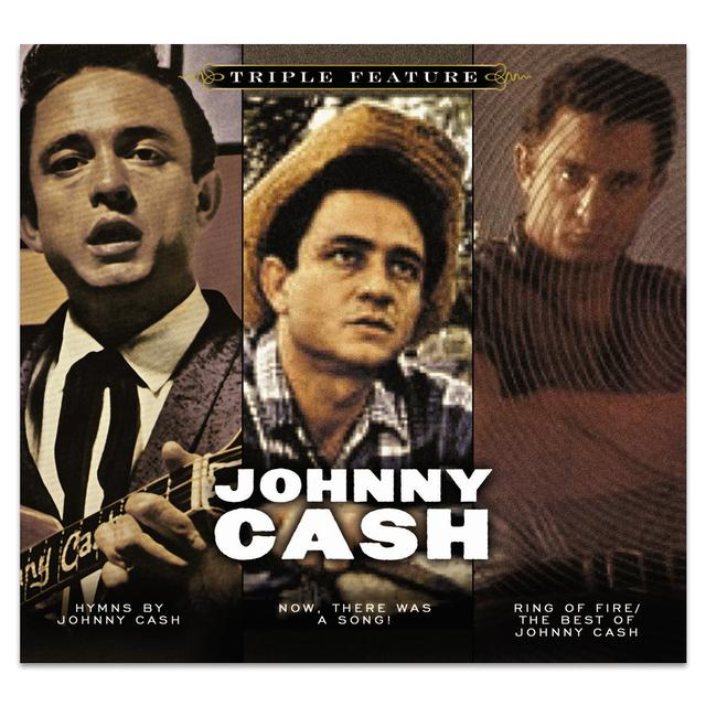 Johnny Cash Triple Feature (3-CD) Box Set CD