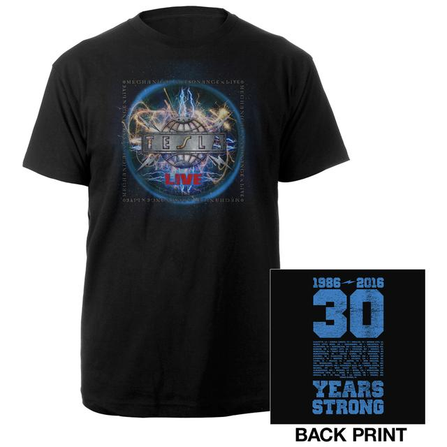 Tesla 30 Years Strong Tour Tee
