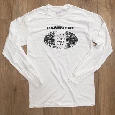 Basement RUN FOR COVER LONG SLEEVE WHITE TEE