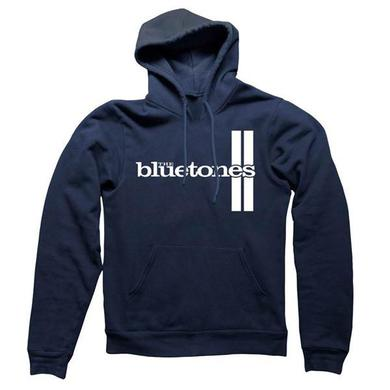 The Bluetones Stripes Navy Hooded Sweatshirt