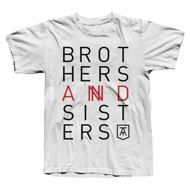 Twin Atlantic WHITE 'BROTHERS & SISTERS' TEE