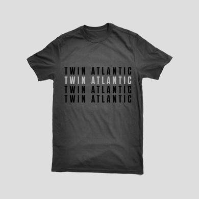 Twin Atlantic Repeat Logo Charcoal Tee