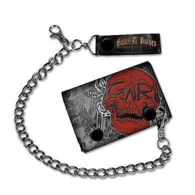 Guns N' Roses Skull & Roses Chain Wallet