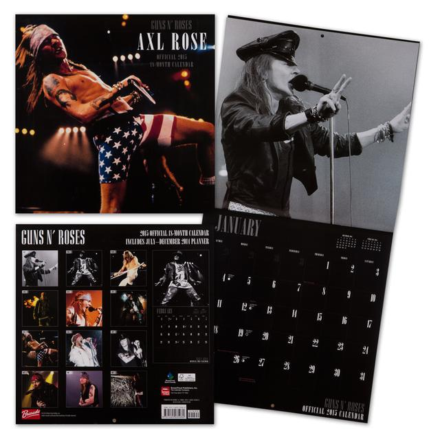 Guns N Roses Official 2015 - 18 Month Calendar