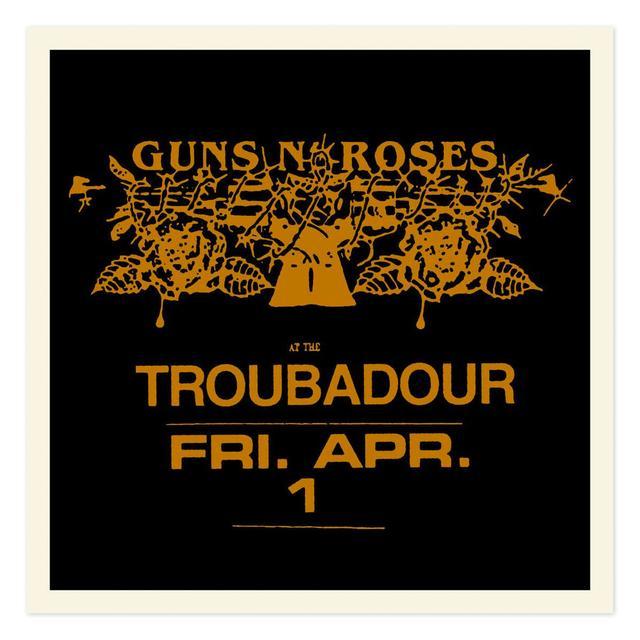 Guns N' Roses Troubadour Limited Edition Gold foil litho (18x18)