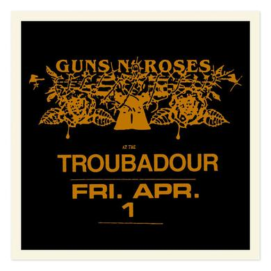 Guns N' Roses Troubadour Limited Edition Gold foil litho (18x18)