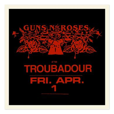 Guns N' Roses Troubadour Limited Edition Red foil litho (18x18)