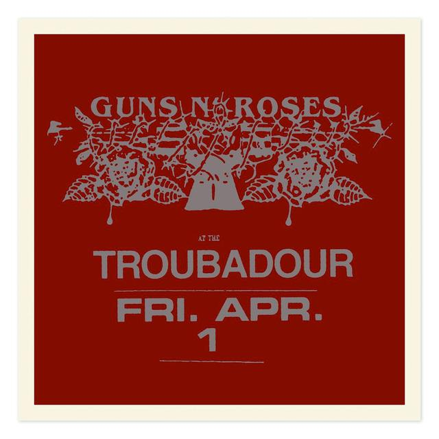 Guns N' Roses Troubadour Limited Edition Silver foil litho (18x18)