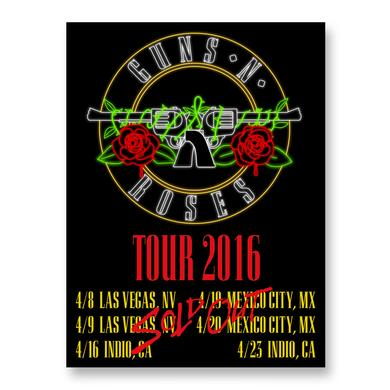 Guns N' Roses Neon 'Sold Out' Lithograph