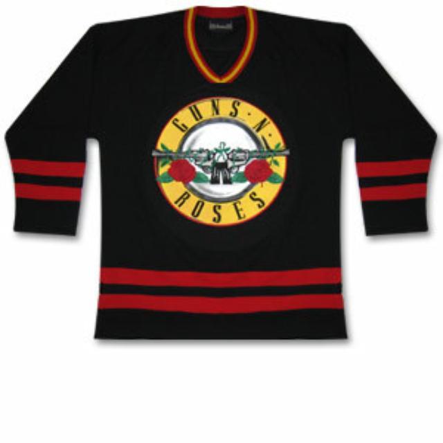 Guns N' Roses Bullet Logo Hockey Jersey