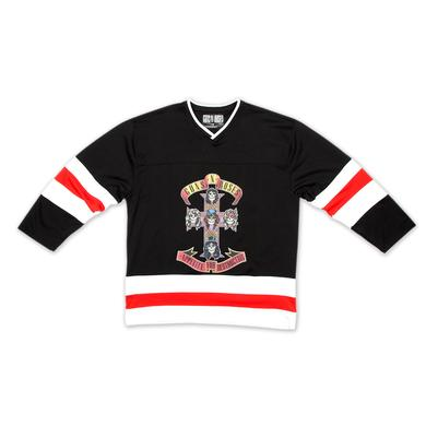 Guns N' Roses Cross Hockey Jersey