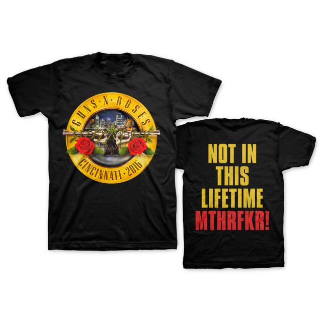 Guns N' Roses Skyline Bullet Tee - Cincinnati