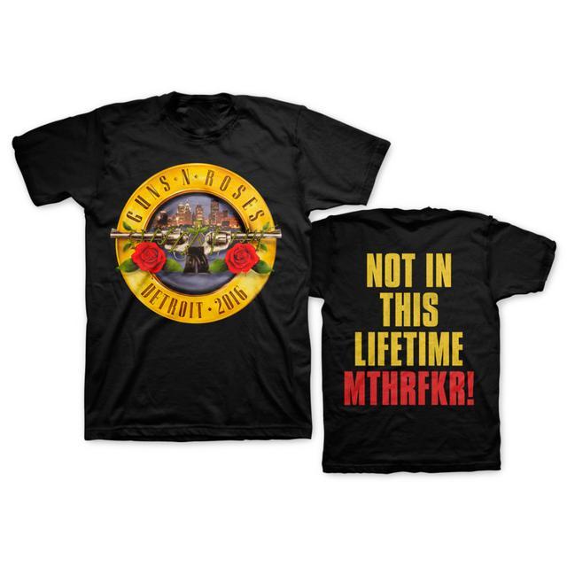 Guns N' Roses Skyline Bullet Tee - Detroit