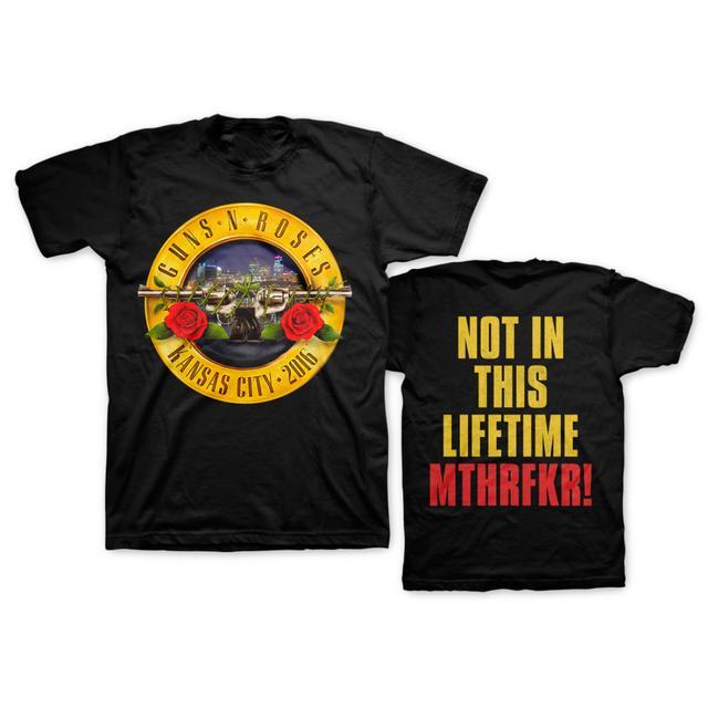 Guns N' Roses Skyline Bullet Tee - Kansas City